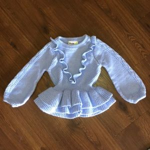 BABY GIRL SWEATER / 18M / BABY BLUE